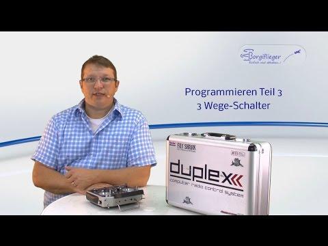 Jeti DC / DS-16 Prorgammieren Teil 3 drei Wege-Schalter - YouTube