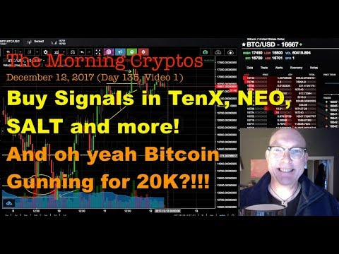 """AltCoin """"Buy"""" signals: TenX, NEO, SALT & MORE! MorningCryptos 135.01"""