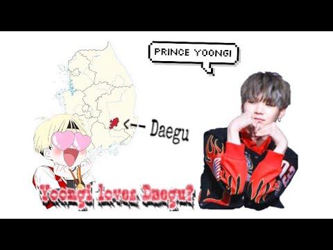 "Suga loves Daegu - Compilation of Suga mentioning 'Daegu' or saying ""I'm a D-boy"""
