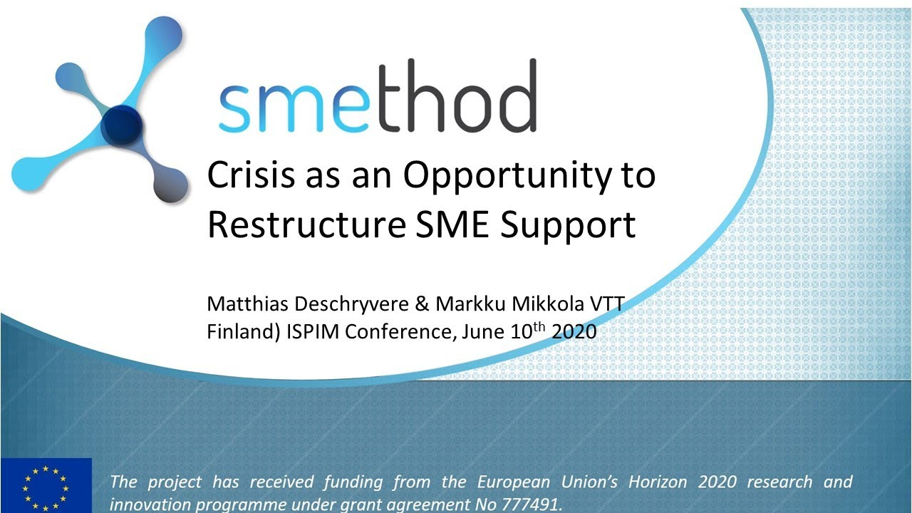 Supporting SMEs for Innovation in Times of Crisis