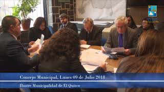 Concejo Municipal Lunes 09 Julio 2018