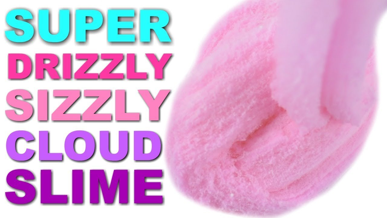 BEST DRIZZLY CLOUD SLIME RECIPE - YouTube