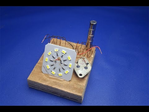 free energy Light bulbs magnets  - New idea projects for learning 2018