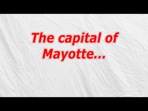 The capital of Mayotte (CodyCross Crossword Answer)
