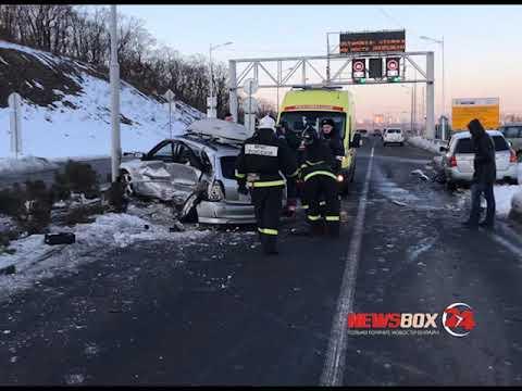 Водитель универсала погиб в жесткой аварии на острове Русском