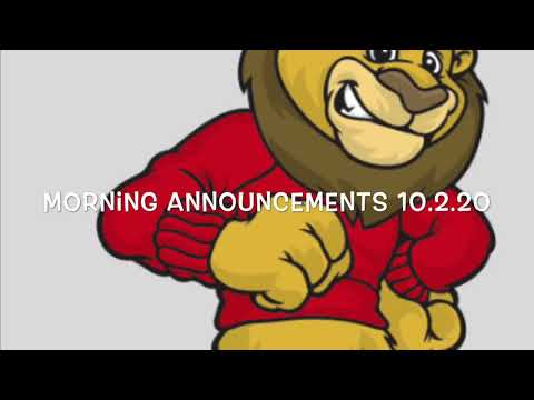 Link Elementary School Morning Announcements October 2, 2020