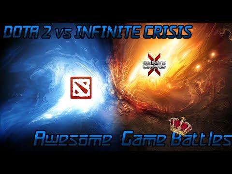 видео: dota 2 vs infinite crisis - великое сражение огня и воды