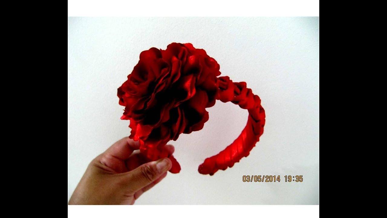 Flores hermosas diademas trenzas nudos dobles en cintas para el cabello ,  YouTube