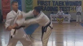 Self-defence techniques 1st Dan test