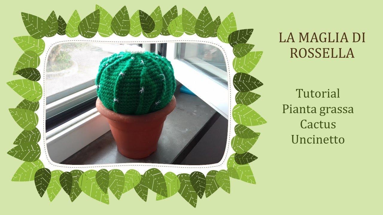Tutorial: Cactus rotondo amigurumi - YouTube | Cacto de crochê ... | 720x1280