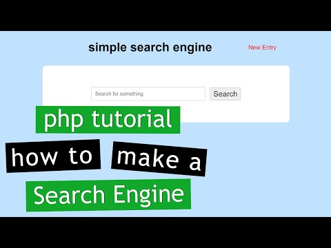PHP Tutorial: Make a Search Engine (1/2)