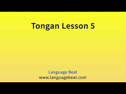 Learn Tongan Lesson 5  :  Tongan  Phrases for Beginners