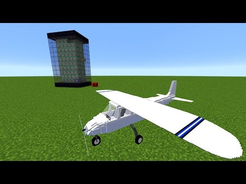 Flugzeug in Minecraft Vanilla! - Minecraft Creation (Command)