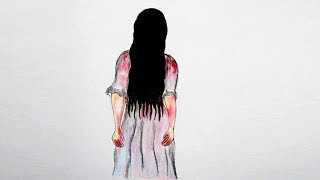 How To Draw  Horror Girl Samara (the ghost from THE RING) Very Easy