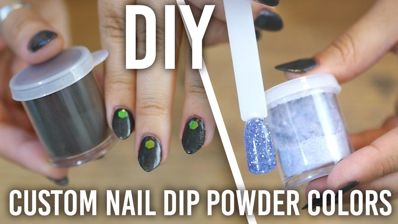 How I Made Custom Nail Dip Powder Colors : DIY - YouTube
