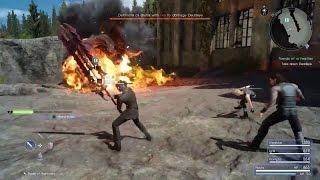 Final Fantasy XV - Deadeye Behemoth Boss Battle | A Behemoth Undertaking
