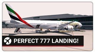 P3D v4.2   PERFECT 777 Landing!   VIDP (Delhi) - OMDB (Dubai)   Emirates 511  PMDG 777-300ER