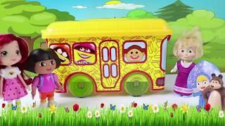 Maşa Otobüs ile Pikniğe Gidiyor Küçük Cadı Otobüsü Neden Kaçırdı? Dora Maşa Koca Ayı Çizgi Film