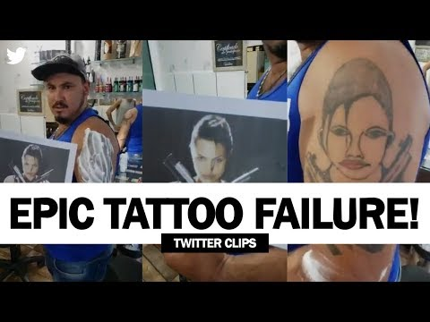 This Guy Got A Disastrous Tattoo Of Angelina Jolie! | Viral Video!