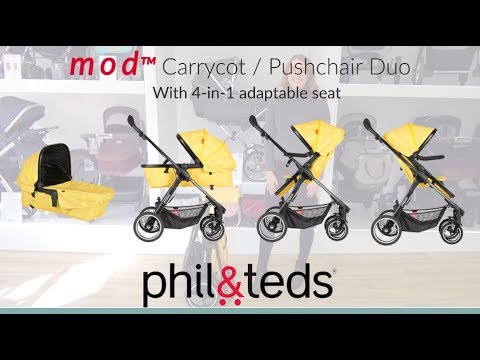 Phil & Teds MOD Pushchair & Carrycot Store Demo - Direct2Mum