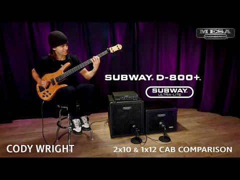 MESA/Boogie Subway Ultra-Lite 2x10 vs 1x12 Comparison