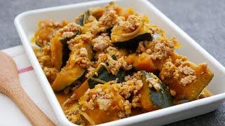 かぼちゃの鶏そぼろまみれ|cook kafemaruさんのレシピ書き起こし
