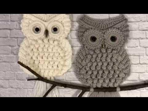 Видео вязание крючком совы