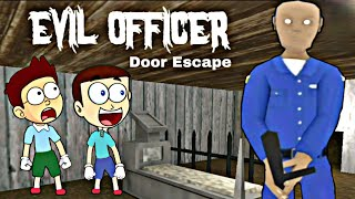 Police Wala Bhoot - Evil Officer in Door Escape | Shiva and Kanzo Gameplay