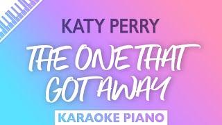 Katy Perry - The One That Got Away (Karaoke Piano)