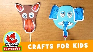 Animal Mask Craft for Kids #2 | Maple Leaf Learning Playhouse