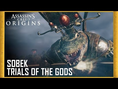 Assassin's Creed Origins | HOW TO EASILY DEFEAT SOBEK BOSS + LEGENDARY SWORD! - Trial of The Gods |