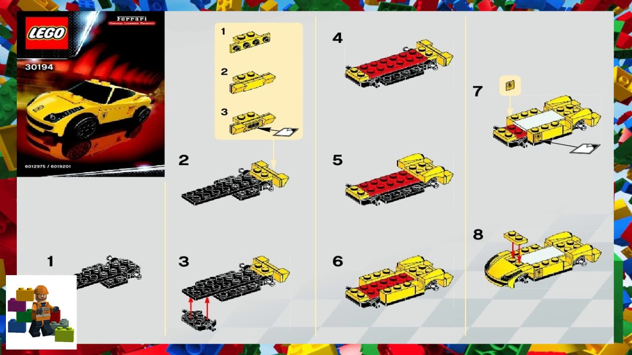 Lego Instructions Racers Ferrari 30194 458 Italia Youtube