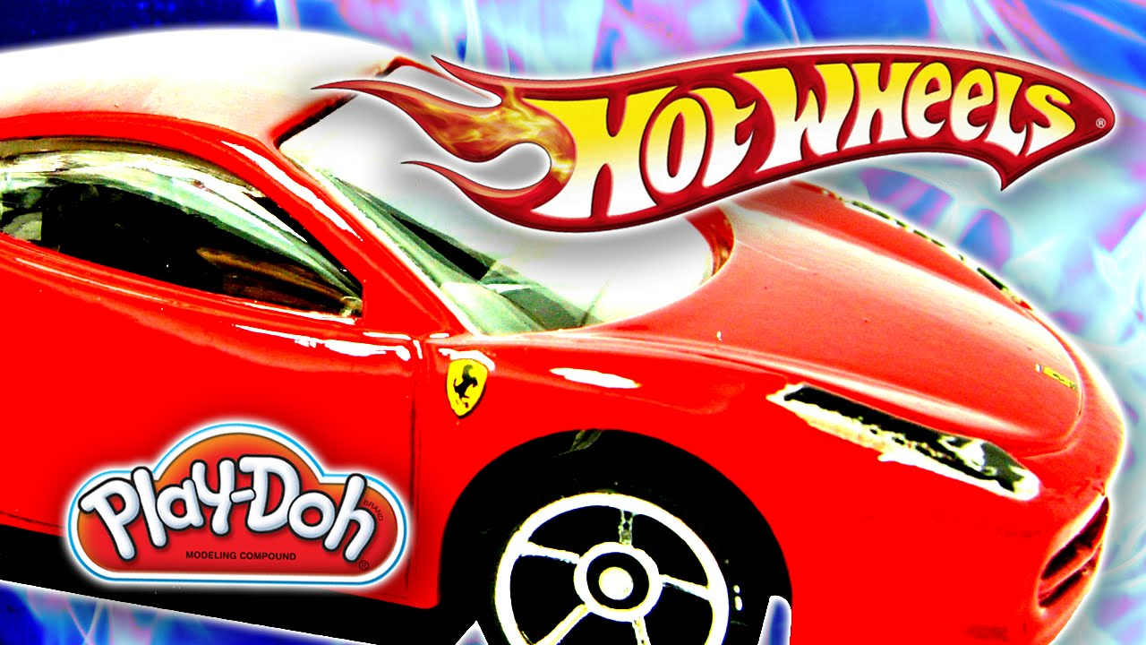 Cool Hot Wheels Toy Cars PlayDoh Jumping Track Playset By - Cool cars jumping