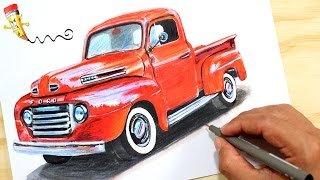Speed Drawing: Ford F-100 | Speed Draw