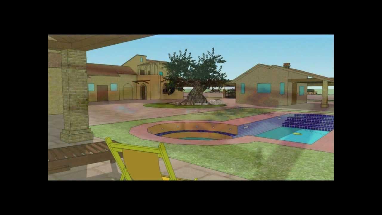 Casa di campagna di stefano s youtube for Programma 3d casa