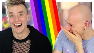 Gay Guys React To Anti-Gay Commercials (ft. Calum McSwiggan) | Roly