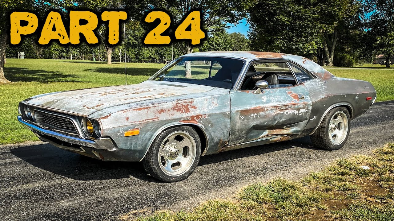 ABANDONED Dodge Challenger Rescued After 35 Years Part 24: First Start!