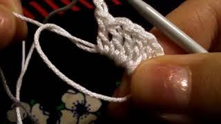 """Воротник """"Веер"""" . Воротник для платья . Вязание крючком для начинающих 🌱"""