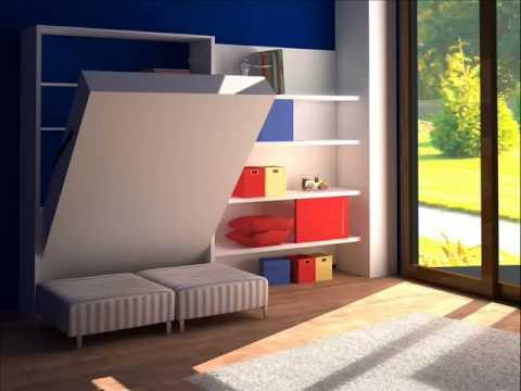 Sistema para cama plegable de dos plazas  YouTube