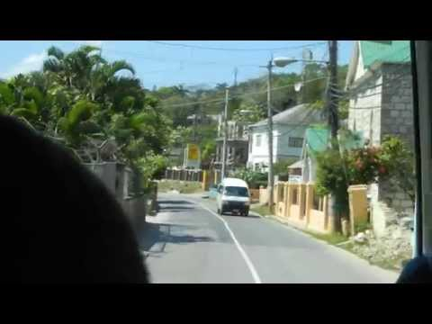 Driving through Lucea, Hanover, Jamaica