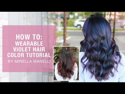HOW TO: Wearable Violet Hair Color Tutorial By Mirella Manelli | Kenra Color