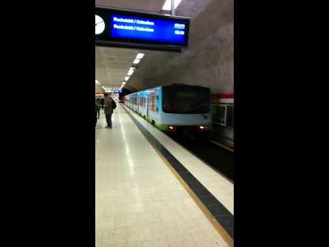 Metro leaving Kamppi Station, Helsinki