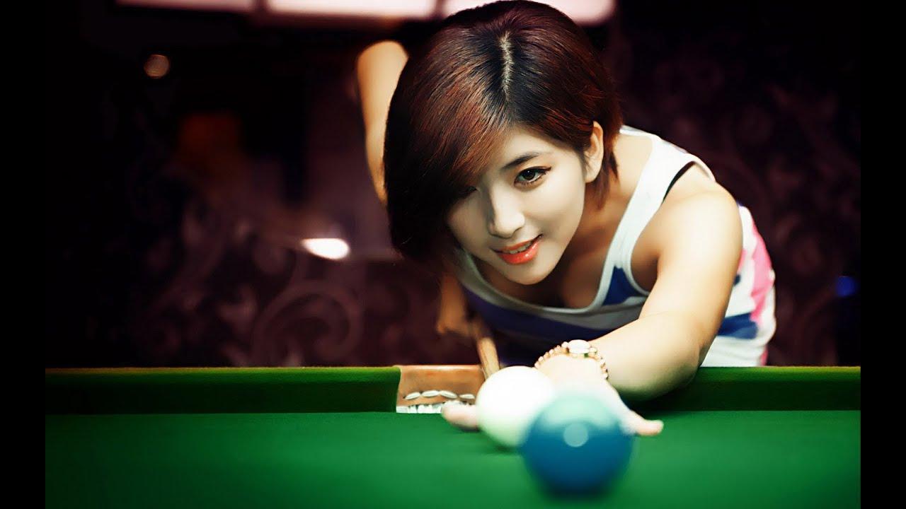 image Topless girl playing table football 2