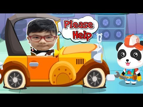 LITTLE PANDA'S AUTO REPAIR SHOP | GAMEPLAY VIDEO | EDUCATIONAL GAMES FOR KIDS | BABYBUS