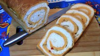 Самый ,самый вкусный хлеб мраморный пикантный ! /Как приготовить хлеб в домашних условиях .(, 2016-12-12T07:31:42.000Z)