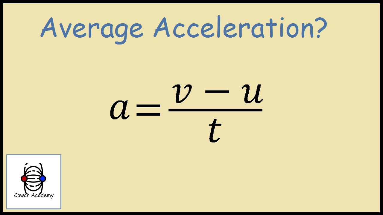 How to Find Acceleration - Physics Example - YouTube Acceleration Physics