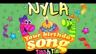 Tina&ampTin Happy Birthday NYLA (Personalized Songs For Kids) #PersonalizedSongs