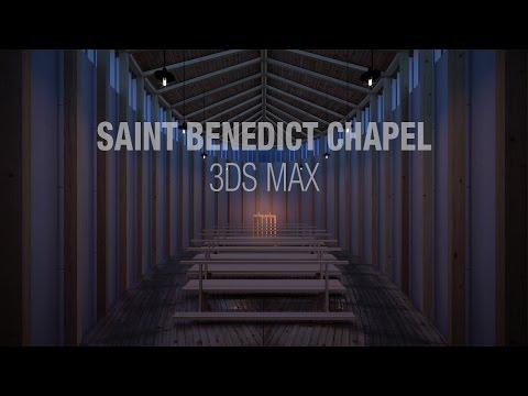 Zumthor's Saint Benedict Chapel in 3ds Max