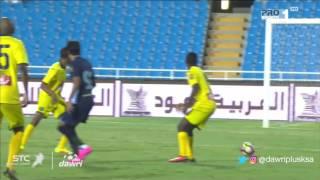 أحمد حمودي يصنع هدفا لـ'الباطن' بعد نزوله بدقيقة .. فيديو