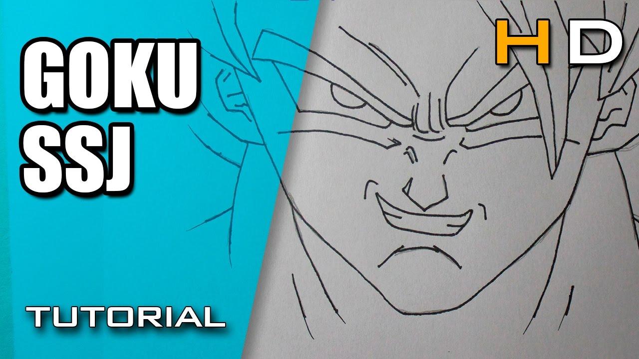 Como Dibujar A Goku Super Sayayin: Cómo Dibujar A Goku SSJ Paso A Paso Fácil